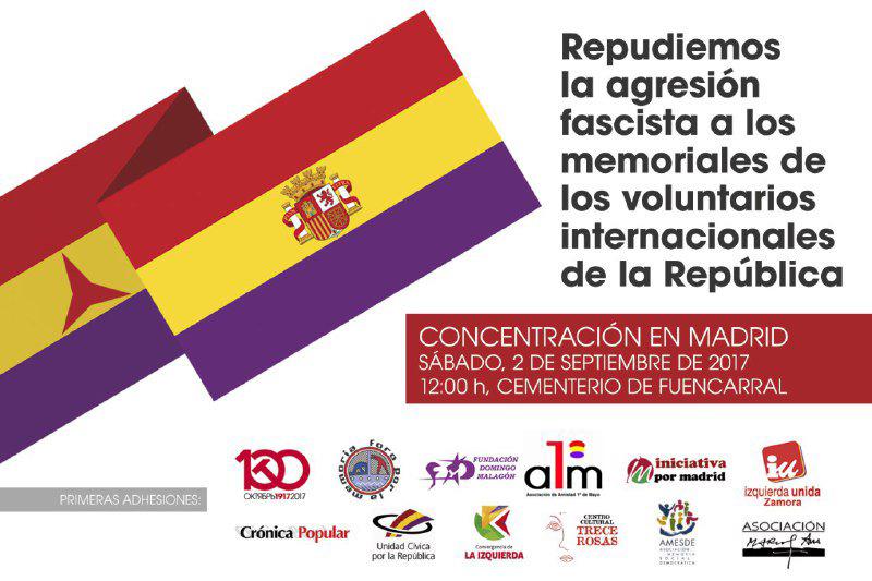sábado 2 de septiembre Acto en Fuencarral contra el fascismo