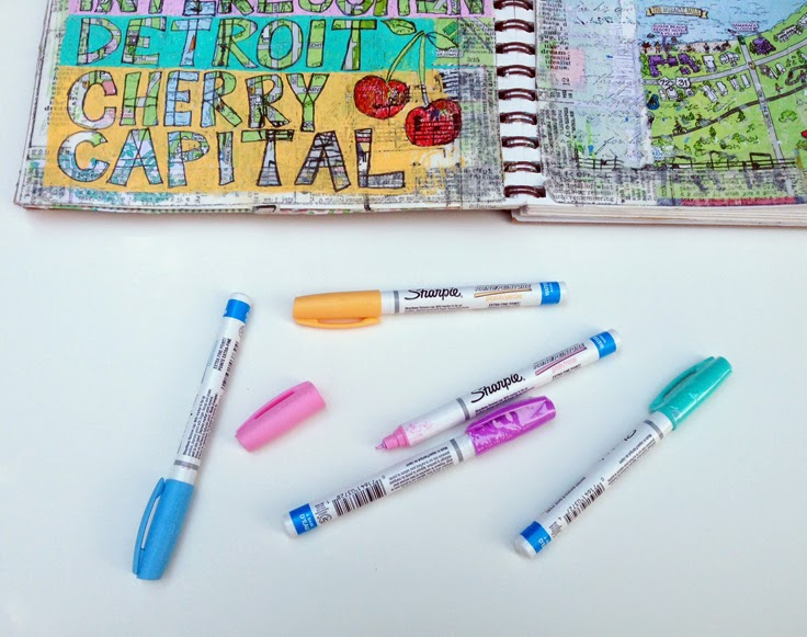 best art supplies for my art journal | #artjournal on http://schulmanart.blogspot.com/2014/07/art-journal-prompt-where-did-you-go.html