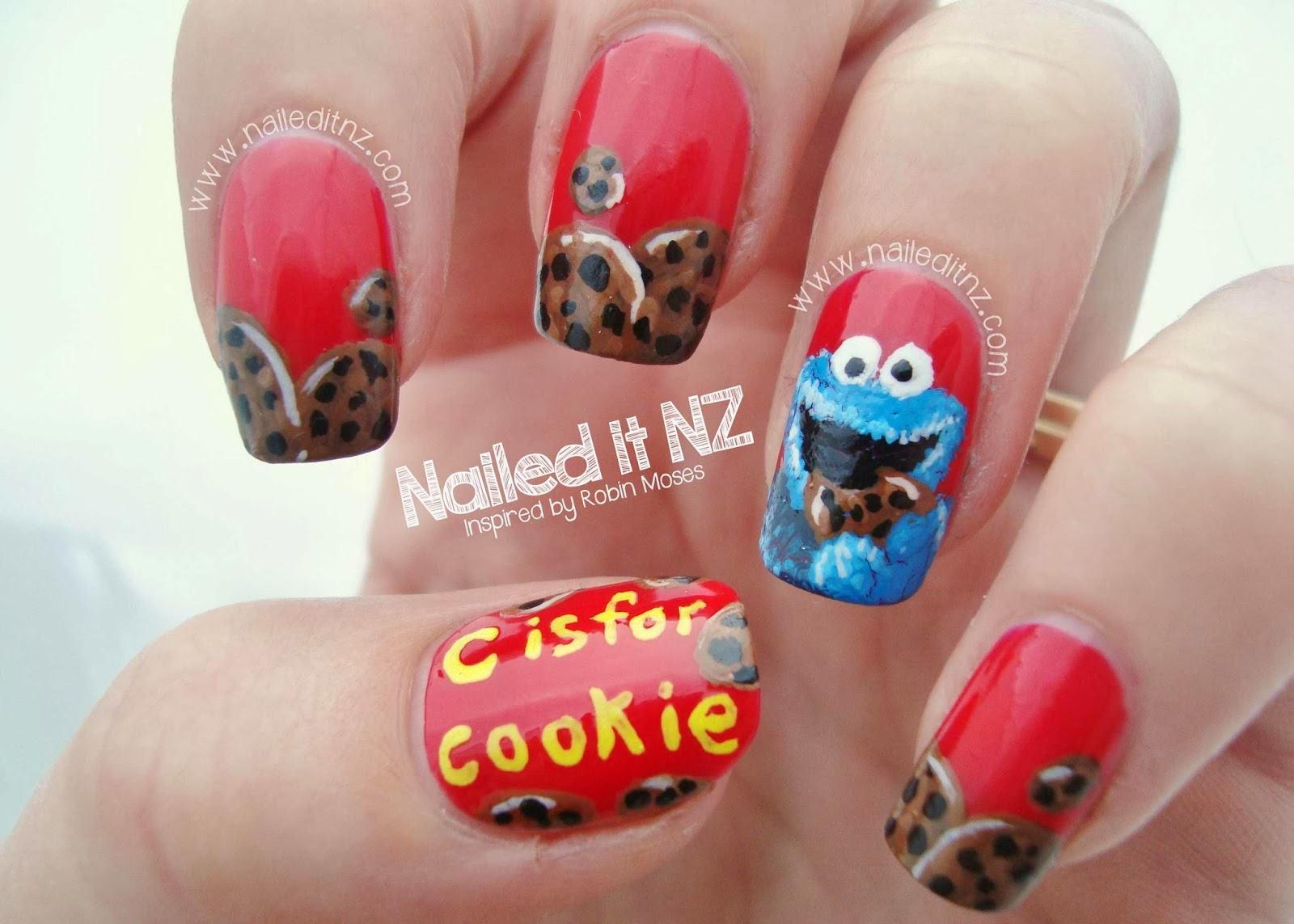 Cookie Monster Nail Art Inspired By Robin Moses