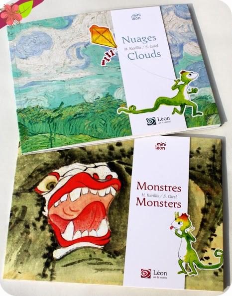 """""""Nuages - Clouds"""" & """"Monstres - Monsters"""" de Hélène Kérillis et Stéphane Girel - éditions Léon art & stories"""