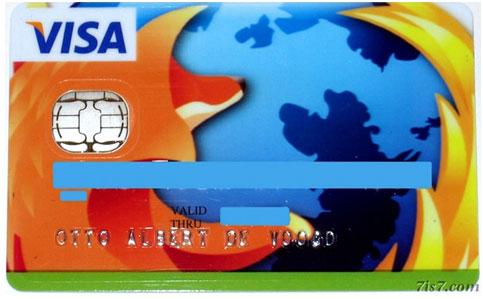 Firefox Customized Visa Card Designs