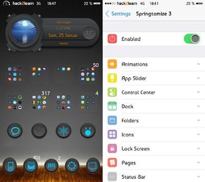 Springtomize 3 Cydia App