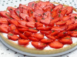 Tarte légère aux fraises et fromage blanc