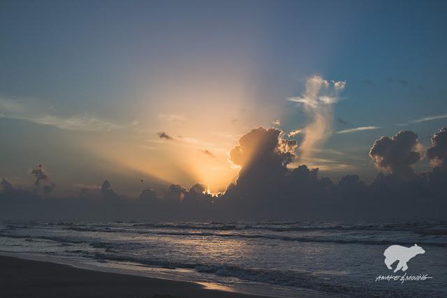 Sunrise in Corpus Christi.