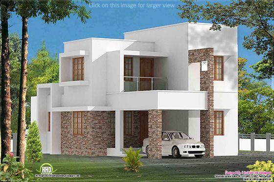simple contemporary villa