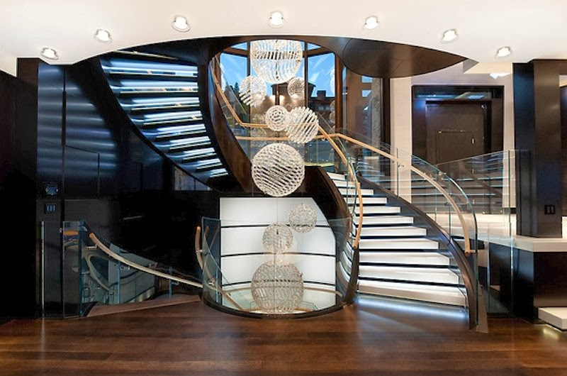 Luxury life design spectacular whitby estates residence in vancouver canada - Amazing private house design with luxurious swirly white staircase ...