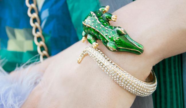 anna dello russo, crocodile bangle, bracelet