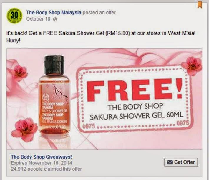 giveaway , body shop , sakura shower gel