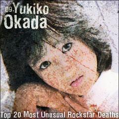 Top 20 Most Unusual Rockstar Deaths: 09. Yukiko Okada