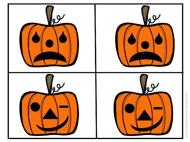 Non-native Mommy: Jack-o-lantern emotions - FREE printable