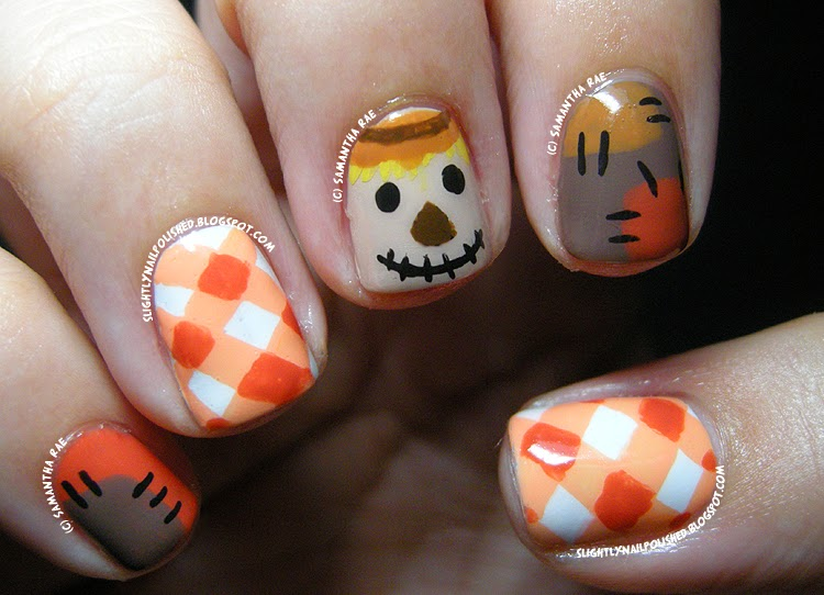 Pumpkin Nail Designs