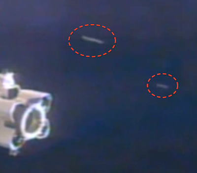 Disc Shaped UFO's Seen At Space Station, UFO Sightings