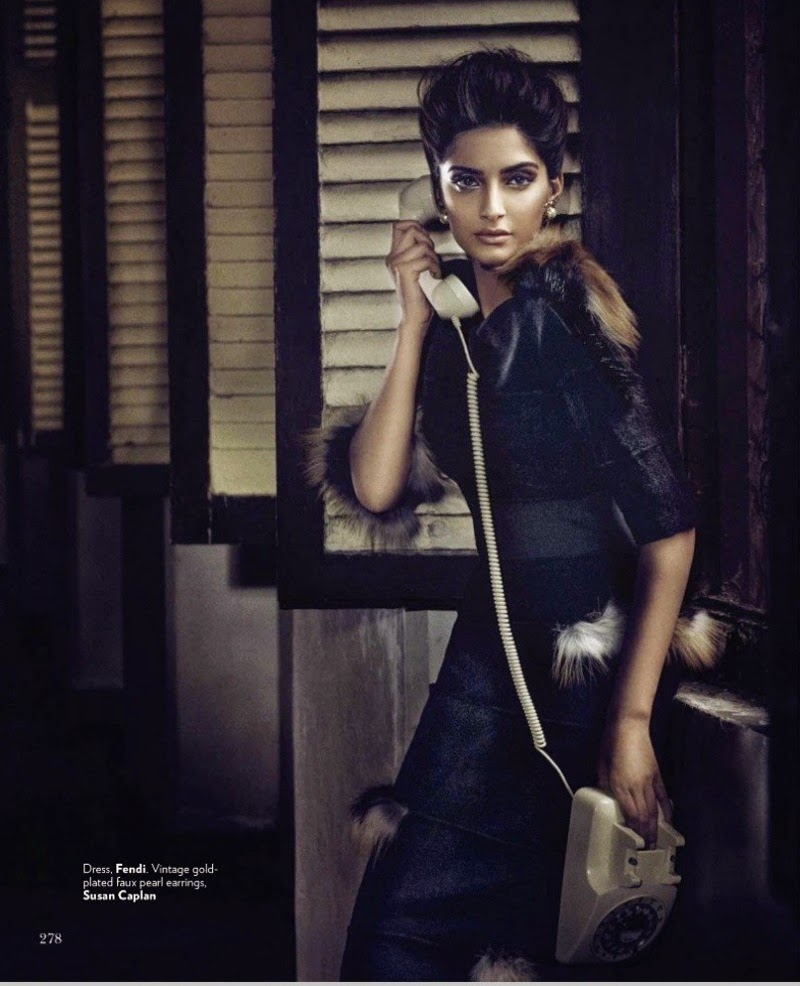 sonam kapoor photoshoot for vogue magazine - september 2014 - ir movies