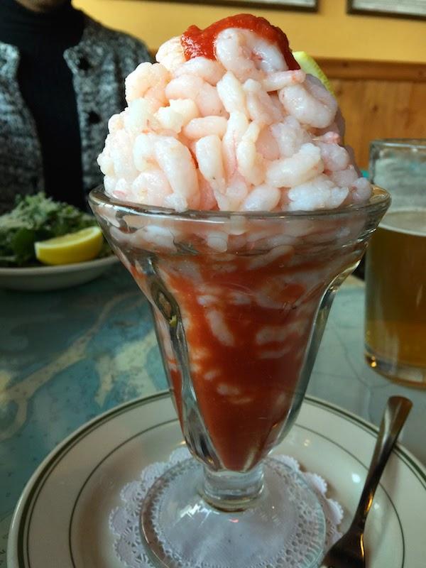 Shrimp cocktail at Corbett Fish House