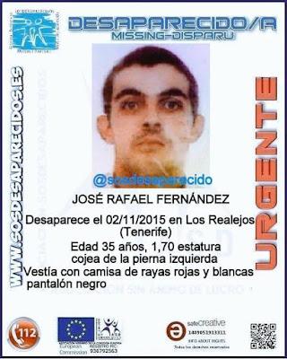 desaparecido, tenerife José Rafael Fernández