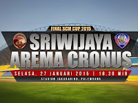 Hasil Sriwijaya vs Arema Skor 0-1 SCM Cup 2015 Final