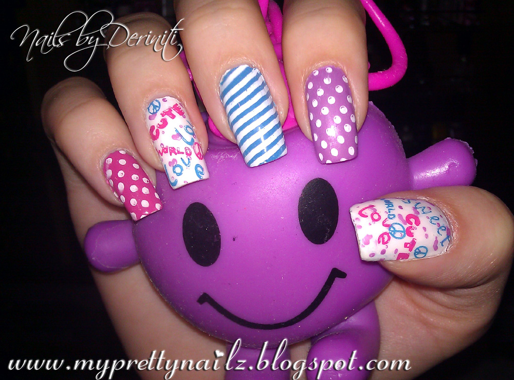 Purple And White Nail Polish Designs Absolute Cycle