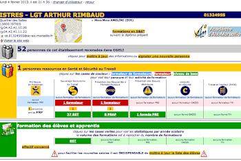 Etat de la prévention ds risques à Rimbaud