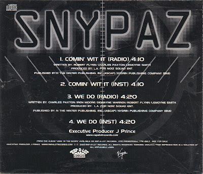 Snypaz – Comin' Wit It (Promo CDS) (2001) (320 kbps)