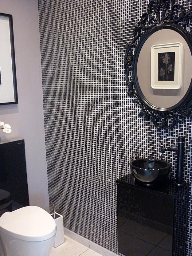 trompe l oeil toilette cheap elegant papier pour cuisine avec charmant papier peint trompe l. Black Bedroom Furniture Sets. Home Design Ideas
