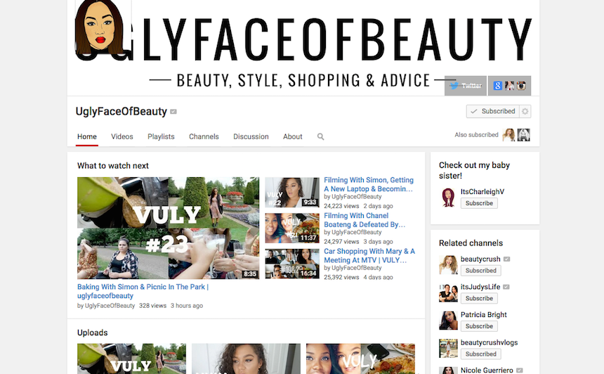 you tube, youtube, vloggers, vlog, current obsession, The ugly face of beauty, Gracie Francesca