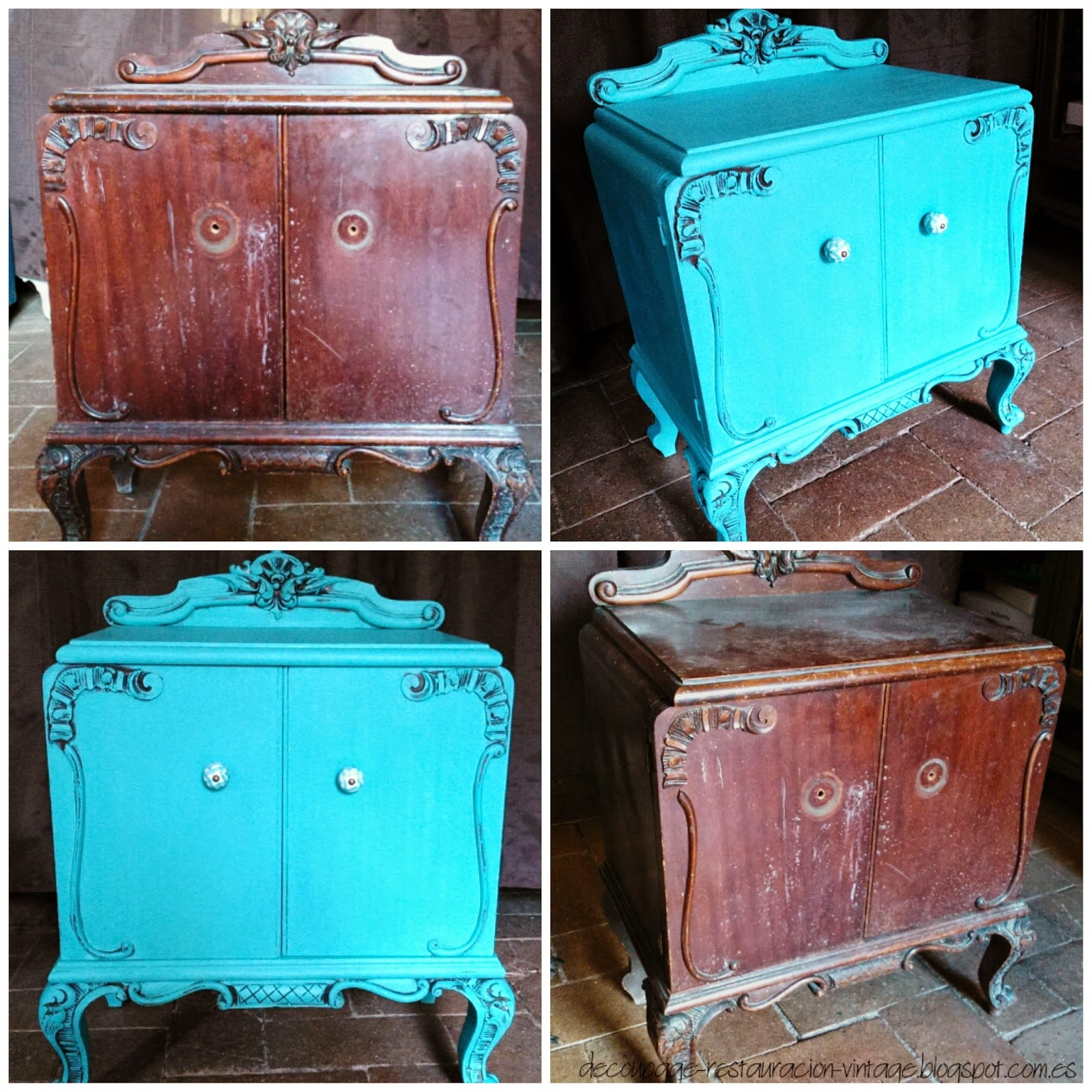 Decoupage transfer y otras t cnicas restauraci n de - Ver muebles antiguos ...