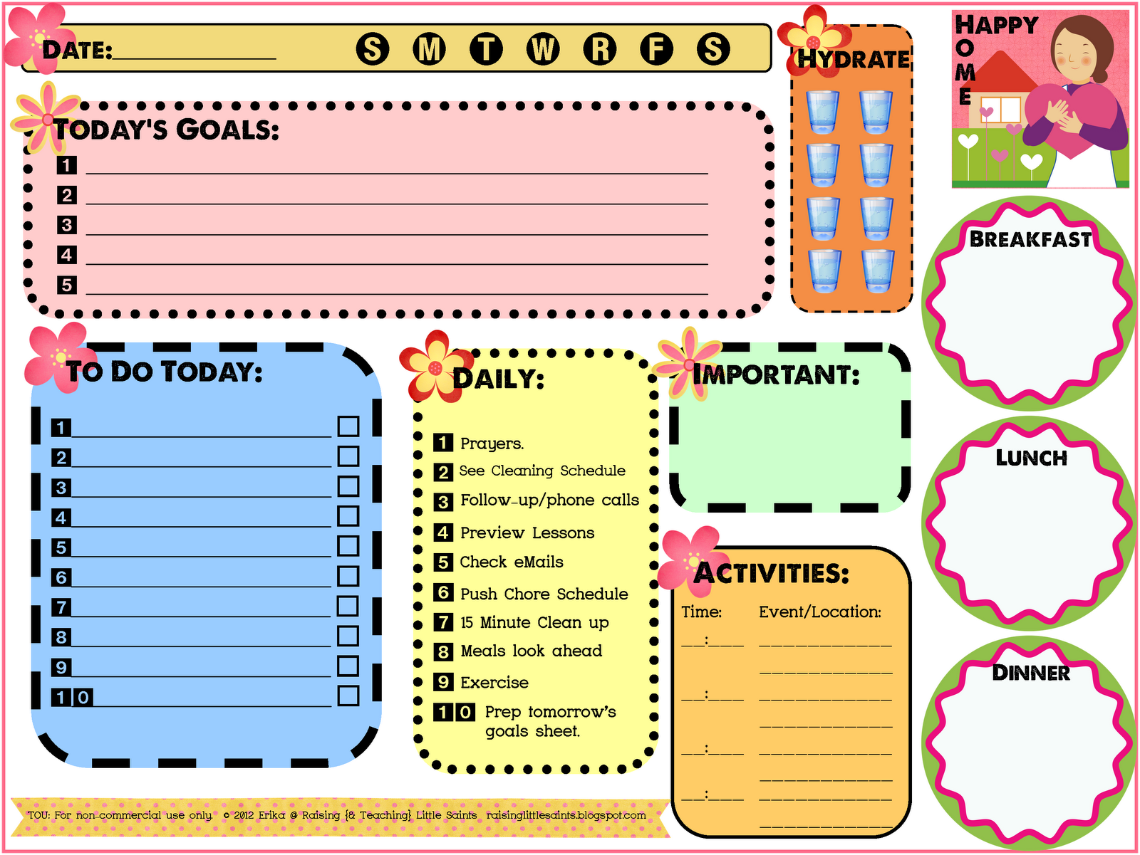 printable project planner organizer sheets home finance organizer book ...