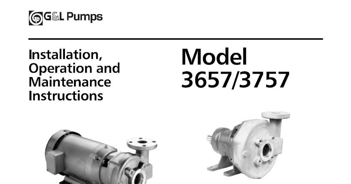 Pumps Installation Operation And Maintenance Instructions Marine Notes