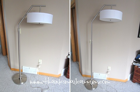 adjustable height floor lamp
