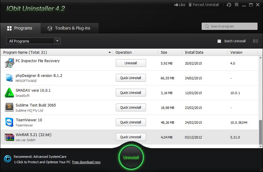 IObit Uninstaller 4.2.6.1 Full Version Terbaru