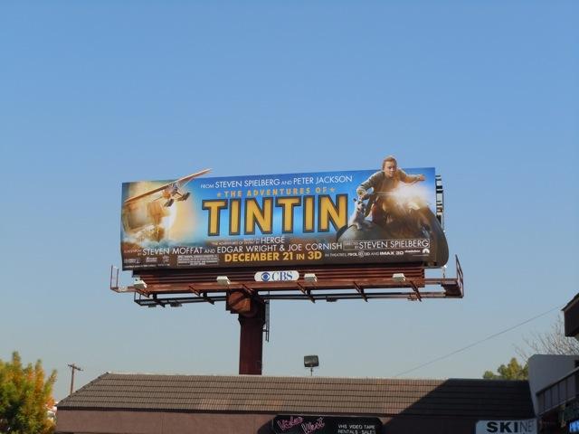 Tintin motorcycle billboard