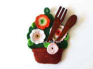 Crochet Pattern Flowerpot DIY