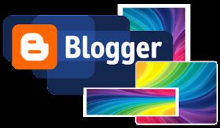 Логотип Blogger и разноцветный картинки разных размеров