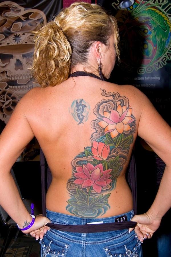 Flowery Back Tattoo