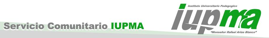 Servicio Comunitario IUPMA