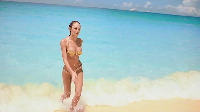 "Candice Swanepoel – Victoria's Secret's ""Very Sexy Bandeau"" Bikini"