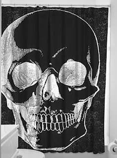 X-Ray Anatomical Skull Shower Curtain