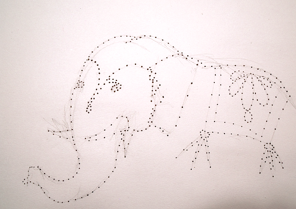 Drawing With Lines And Dots : An elephant a day: no. 233: connect the dots