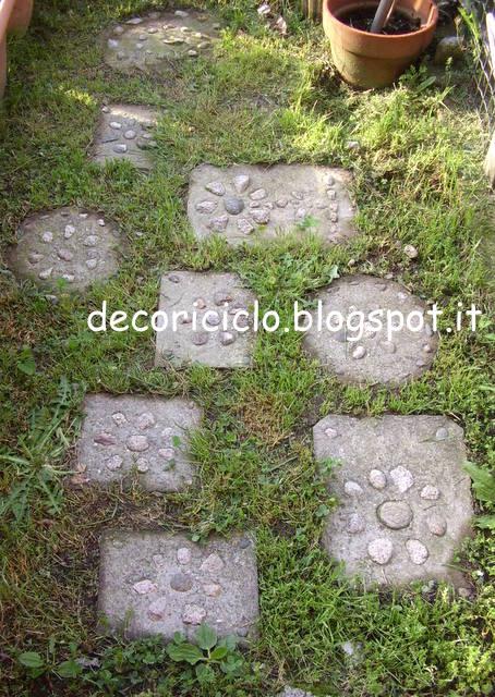 Decoriciclo piastrelle da giardino fai da te - Piastrelle giardino cemento ...