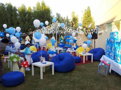 DECORACIONES CON LOS PITUFOS decoracionesparafiestasinfantiles.blogspot.com