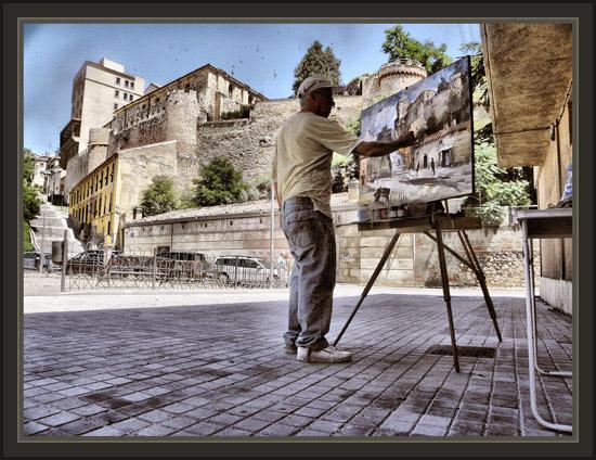 SEGOVIA-MURALLAS-HISTORIA-FOTOS-PINTORES-PINTOR-ERNEST DESCALS-