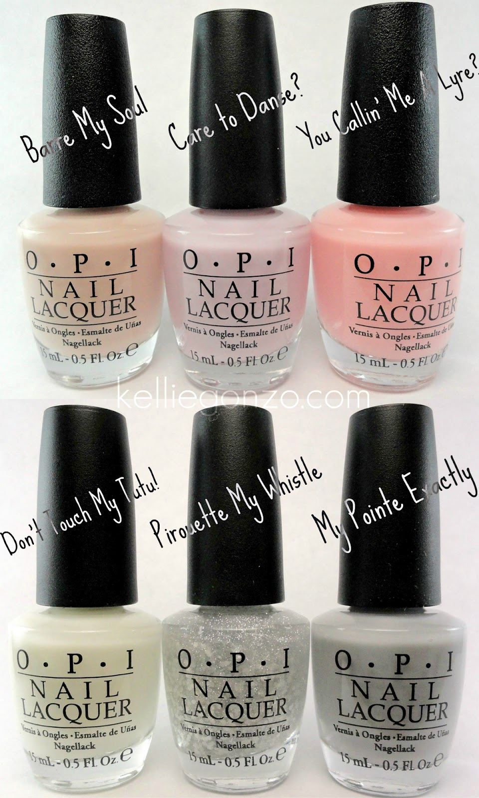 OPI NYC Ballet Soft Shades