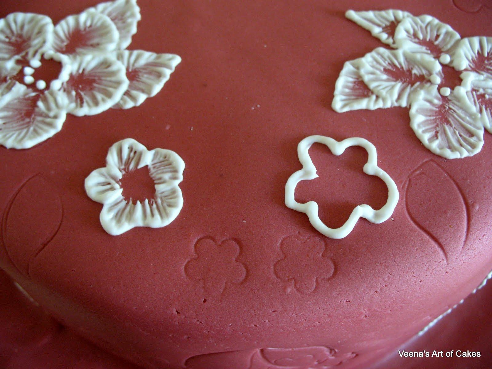 Brush embroidery on cake veena azmanov