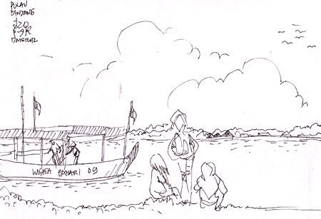 Sketsa Pulau Panjang
