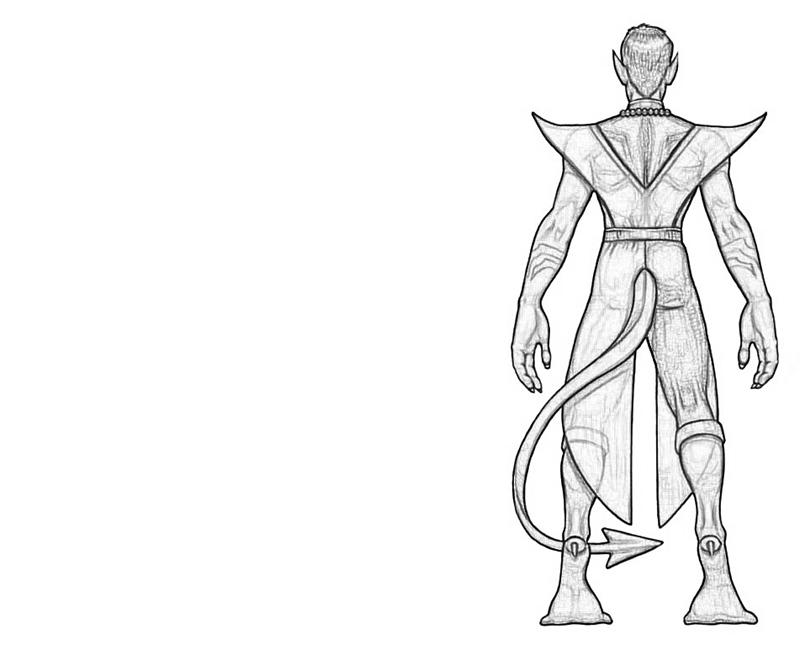 Nightcrawler Back Lean Printing Nightcrawler Coloring Pages
