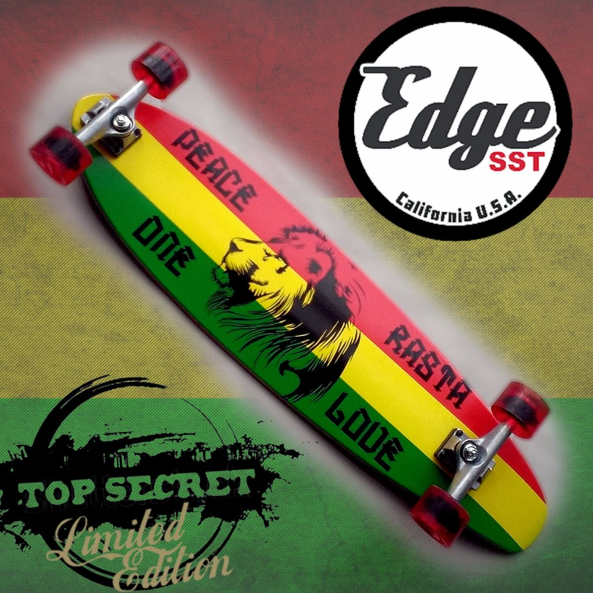 Edge SST Rasta Skateboard