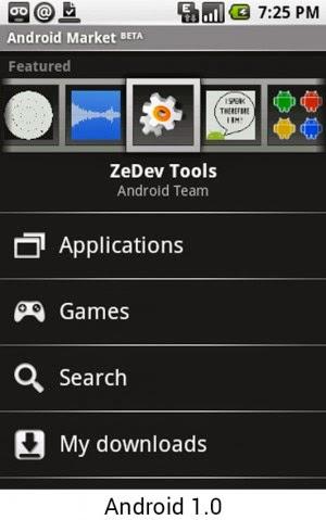 Android 1.0 versi jadul