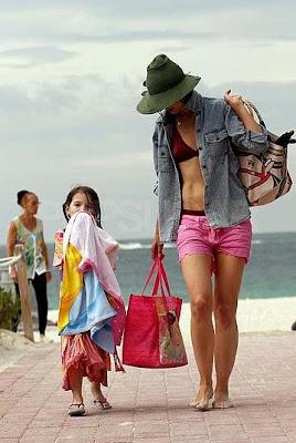 Katie Holmes Hits in Red Bikini Pics