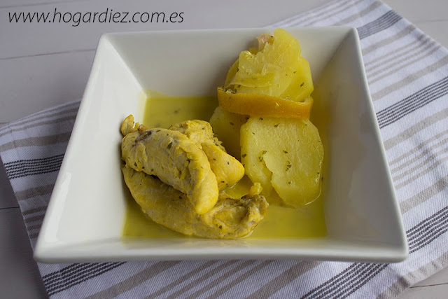 Receta pollo al horno con limón