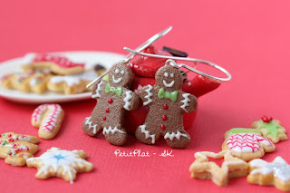 Gingerbread Men Earrings / Boucles d'Oreilles Bonhomme en Pain d'Epices